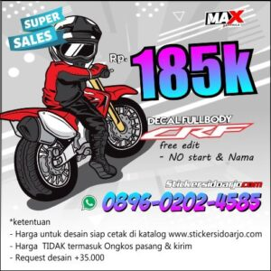 decal CRF 150 maxgraphica cutting sticker sidoarjo